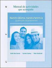 Manual de Actividades Que Acompana : Nuestro Idioma, Nuestra Herencia - Espanol