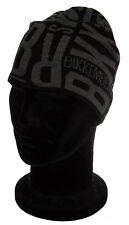 Cappello cuffia BIKKEMBERGS 01334 taglia UNICA colore 002 NERO CON LOGO GRIGIO