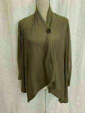 bobeau Womens Solod Beige Taupe Long Sleeve Cardigan Poncho Sweater Top Medium