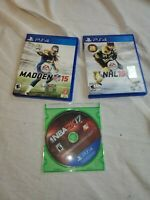 PS4  Sports Recent Games Lot: Madden NFL 15 NHL 15 NBA 2K17  PlayStation 4