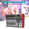 8 Channel Karaoke Players Portable Audio Mixer USB Sound Mixing Console 48V G0H6