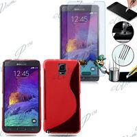 Cover Custodia TPU Silicone Samsung Galaxy Note 4 SM-N910F N910C+ Film