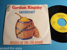 "Gershon Kingsley / Sauerkraut - Prezels Of The 5th Avenue - 7"""