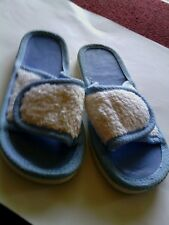 Medium (8-9) Sandals Women's SPA Finder *NEW* Blue & White Slip On RARE DISC.