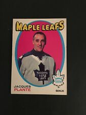 1971-72    OPEE-CHEE  HOCKEY  #195   JACQUES  PLANTE    EX-MT+