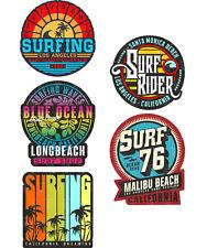 5x SURF autocollant Surfing Sticker Boards Beach Oldtimer Tuning Vintage v8 mg627