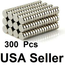 300 pc 3mm x 1.5mm Disc Rare-Earth Neodymium Magnets Magnet 1/8 inch x 1/16 inch