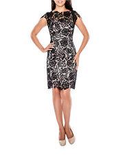 NEW DECODE 1.8 Scalloped Lace Sheath Dress Size 8