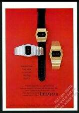 1975 Concord LED digital watch 3 styles color photo Tiffany's vintage print ad