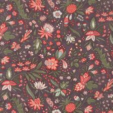 Moda Fabric Quill Floral Flourish Dark Mauve - Per 1/4 Metre