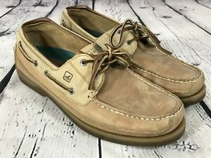 SPERRY Top Sider Brown Leather Original 2 Eye Boat Shoes Men's Size 11.5 M