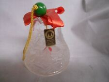 Kristallglas Crystal Glass Walther Glass Christmas bell with frosted trees