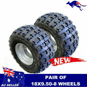 Pair 18x9.5-8 8 inch REAR Tyre tire Rim for ATV Quad Bike Buggy Ride on Mower