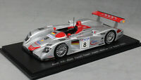 Spark Audi R8 Le Mans Winner 2000 Kristensen, Pirro and Biela 43LM00 1/43 NEW