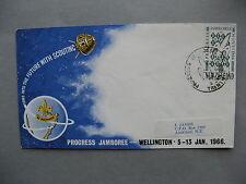 NEW ZEALAND, cover FDC 1966, Progress Jamboree scouting