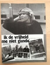 ABBA 'Agnetha in studio' ARTICLE / clipping from Joepie magazine (Belgium)