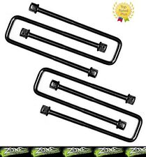 """Zone Offroad 9/16"""" x 2-1/2"""" x 8-3/4"""" Square U-bolts Set of 4 Made in the USA"""