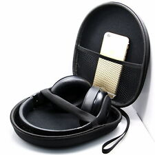 Black Headphone Case Bag Portable EVA Carrying Hard Box For Earphone Headset