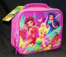 Campanilla Disney Fairies Niña Rosa Libre de PLOMO Térmico Bolsa Comida Caja