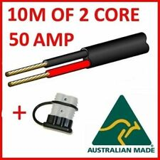 TyCab 10m 2 Core 6mm Automotive Wire + Anderson Plug w/ Cover Electrical Cable
