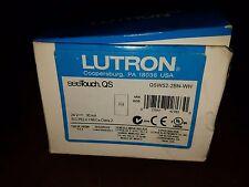 LUTRON QSWS2-2BN-WH WHITE 24V SEETOUCH QS WALLSTATION.