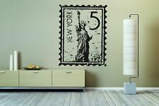 Wall Vinyl Sticker Room Decals Mural Design New York City Stamp NY USA bo1194