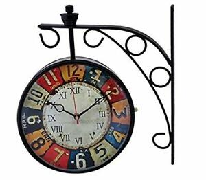New Latest Design Clock Metal 8 Inch Double sided Wall Clock for Valentine gift
