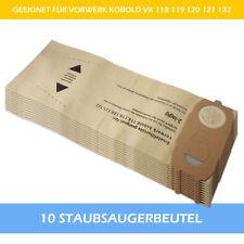 10 Filtertüten Staubsaugerbeutel geeignet Für Vorwerk Kobold 118 119 120 121 122