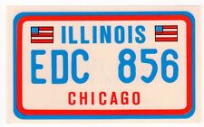 figurina U.S.A. TARGHE NUMBER PLATES EDIZIONE FIGURINA CLUB NEW ILLINOIS