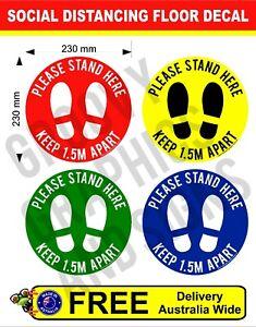Social Distancing Floor Vinyl Sticker 1.5M Distance Shop Sign Please Stand Here
