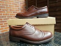 Luca Puccini size 9 oxford brown leather mens wingtip shoes lace-up ref3P12