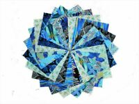 40 5 Inch Midnight in the Garden Quilting Fabric Squares /Layer Cake By Benartex