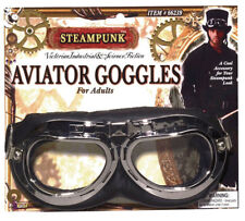 Adult Victorian Pilot Glasses Fancy Dress Accessory Steampunk Aviator Goggles UK