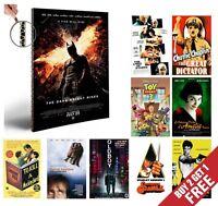 IMDB TOP 51-100 MOVIE POSTERS A4 Photo Print Film Cinema Home Wall Room Art Deco