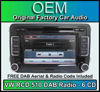 VW Golf Plus Stereo, Rcd 510 DAB Radio Cd-Wechsler, Touchscreen Sd Karte