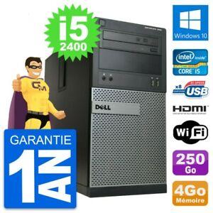 PC Tour Dell OptiPlex 390 MT i5-2400 RAM 4Go Disque 250Go HDMI Windows 10 Wifi
