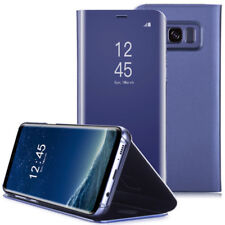 For Samsung Galaxy Note 9 8 S8+ S7 S6 Luxury Touch Mirror Smart Flip Phone Case