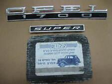 OPEL Olympia REKORD 1700 SUPER Emblem Logo NAME PLATE Schriftzug  Oldtimer