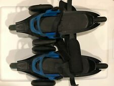 Cardiff Skate Co. Cruiser Adult Size L 3-Wheel Rollerblade Blue/Black Adjustable