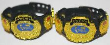WWE WCW Tag Team Championship Title Belt Action Figure Mattel Elite Set Legends