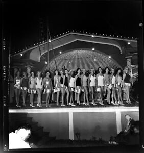 1963 Palisades Amusement Park Sexy Contestants  Original Negative