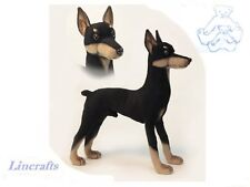 Hansa Doberman 2708  Plush Soft Toy Dog Sold by Lincrafts Established 1993
