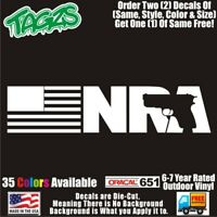 NRA Flag Gun Rifle 2A  DieCut Vinyl Window Decal Sticker Car Truck SUV JDM