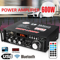 MECO 600W 110V Amplifier HIFI bluetooth Stereo Audio AMP USB SD FM Mic Car Home