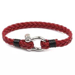 Multilayer Men's Braided Leather Bracelet