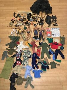 Large Collection Of Vintage Action Man 1978 Figures  Clothes Accessories Palitoy