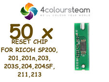 50x TONER RESET CHIP FOR RICOH SP 200 SP200 201 203 204 211 213 SP213W 407254