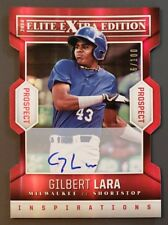 2014 Elite Extra, Gilbert Lara, Brewers RC, Red Rookie Auto Autograph, #d 16/100