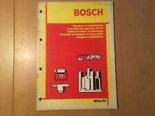 Bosch Katalog Zündung von 1974/75  Katalog gebraucht für Oldtimer