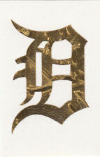 GOLD LEAF Detroit Tigers 2 inch fire helmet decal sticker yeti window